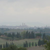 Siena, visible in the distance (with some magnification)