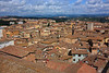 The view out over the tiled rooftops of Siena was spectacular . . .