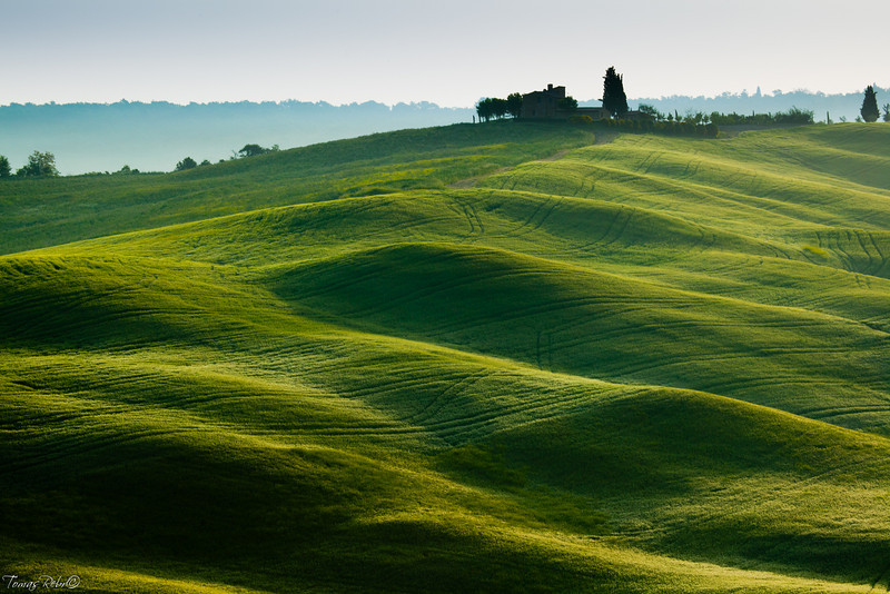 Morning on countryside, Tuscany, Italy