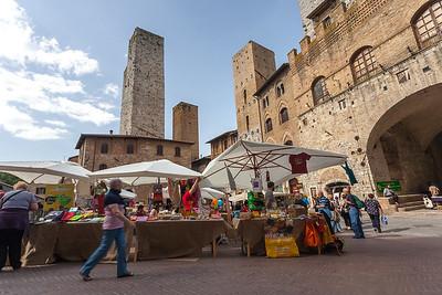 Market ,San Gimignano, Tuscany, Italy