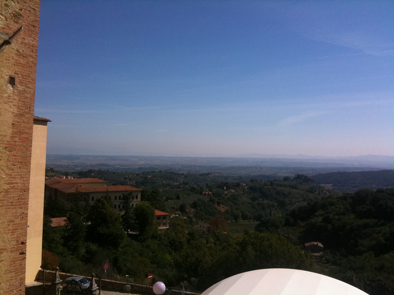 View from Caffe Poliziano in Montepulciano