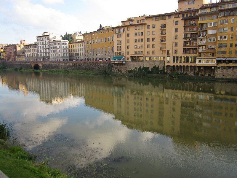 After spending several hours at the Uffizi, along with many, many other tourists (a somewhat overwhelming experience) we walked along the Arno.