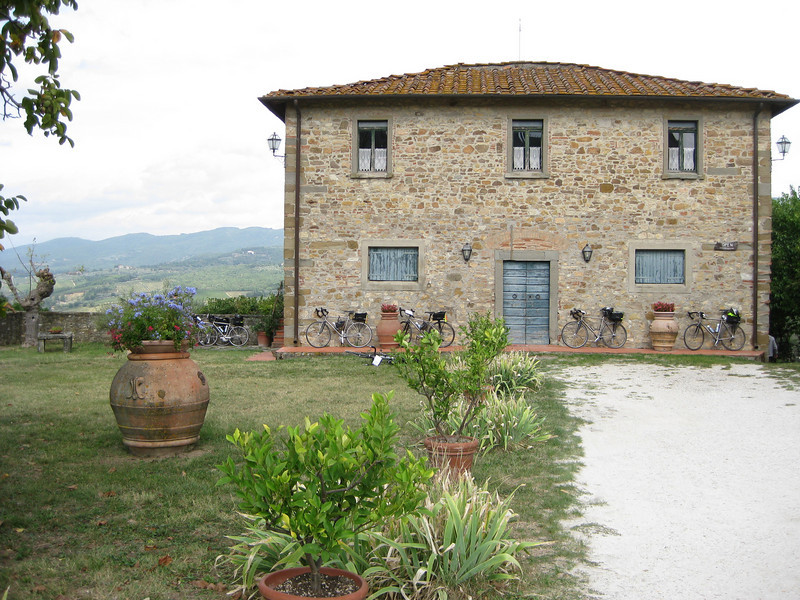"""Site of our Picnic Lunch:  Agriturismo """"La Quercia"""" on the hill between Greve and Panzano in Chianti"""