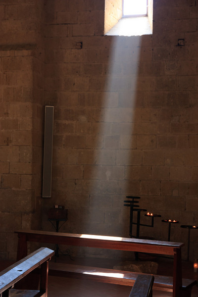 After our picnic we went back to the Abbey to hear the Gregorian chanting (no photos during the chanting), as the light streamed through the high windows.