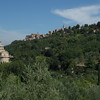 Looking back at Tempio San Biagio and Montepulciano on the hill