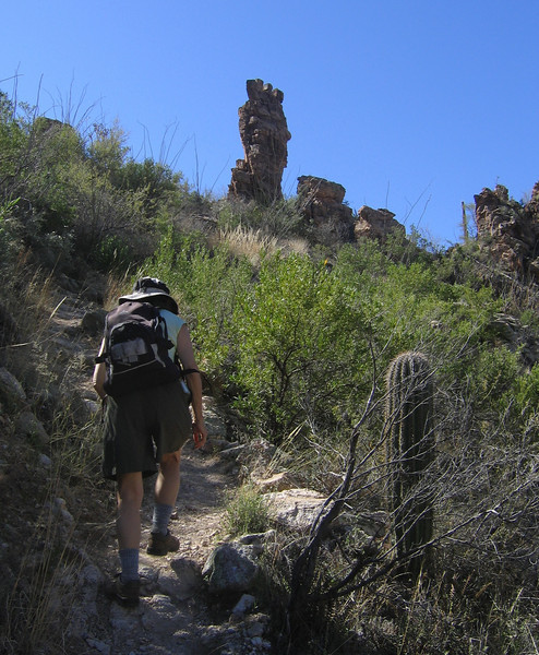 Sybille on Upper Sabino Canyon Trail