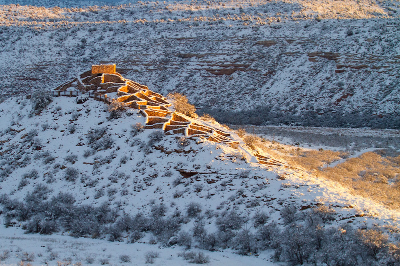 New Year's Day Snow in Clarkdale, AZ, 1/1/15