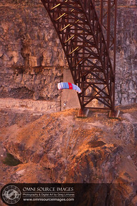Base Jumper - Snake River Gorge, Twin Falls, Idaho. July 31, 2013.