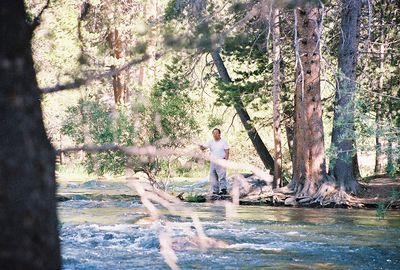 7/5/05 Gil fishing along Robinson Creek near Lower Twin Lakes Campground. Toiyabe National Forest, Eastern Sierras, Mono County, CA