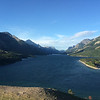 Upper  Waterton Lake, the next morning. From our room!