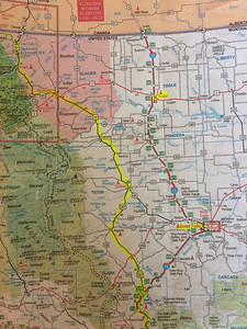 High-tech agreement upon route: an iPhone pic of a highlighted paper map.