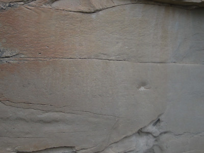 Another kind of writing on stone (etching).