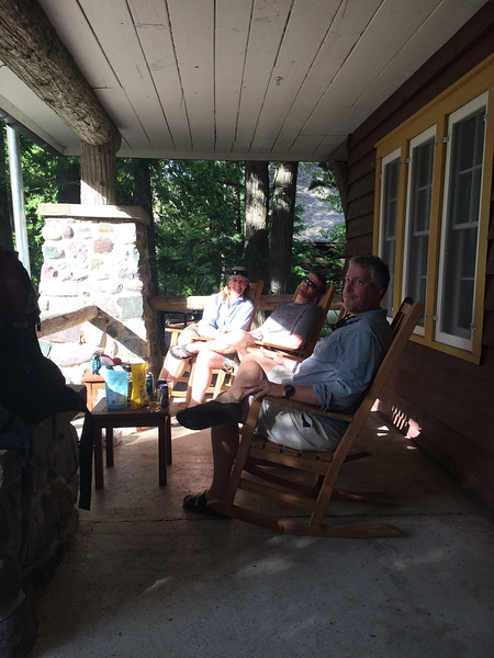 Porch takeover at Cobb House.