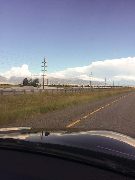 Turbine blades on a train as we head eastward in Montana.