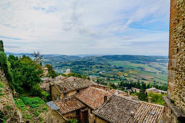 Montepulciano and Montone