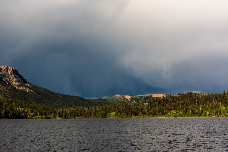 Storm brewing above Two Medicine Lake
