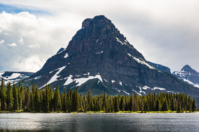 Two Medicine Lake and surrounding mountains.