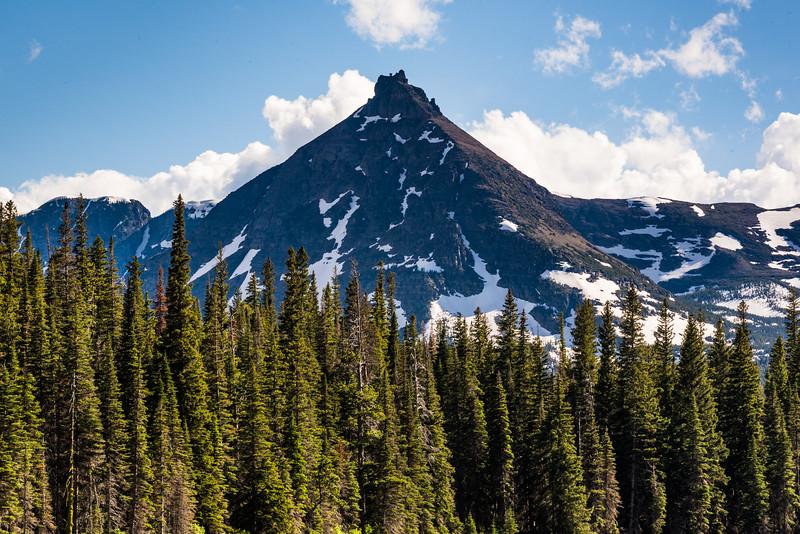 Mountain peak above Two Medicine Lake