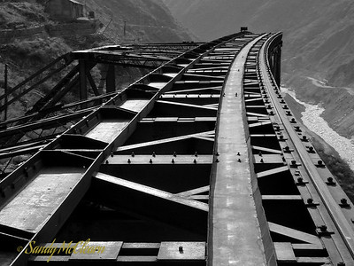 Anther view of the cable crane trestle.