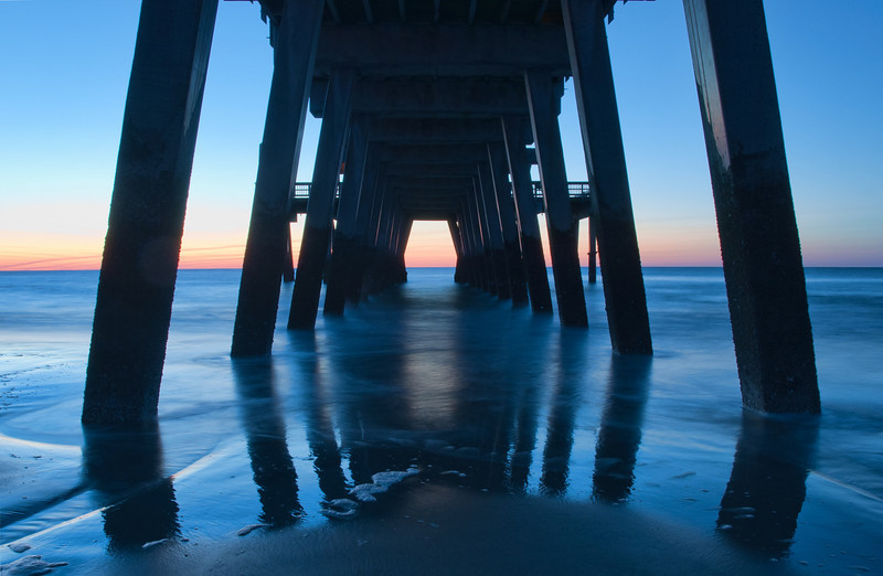 Tybee Island Pier at dawn.