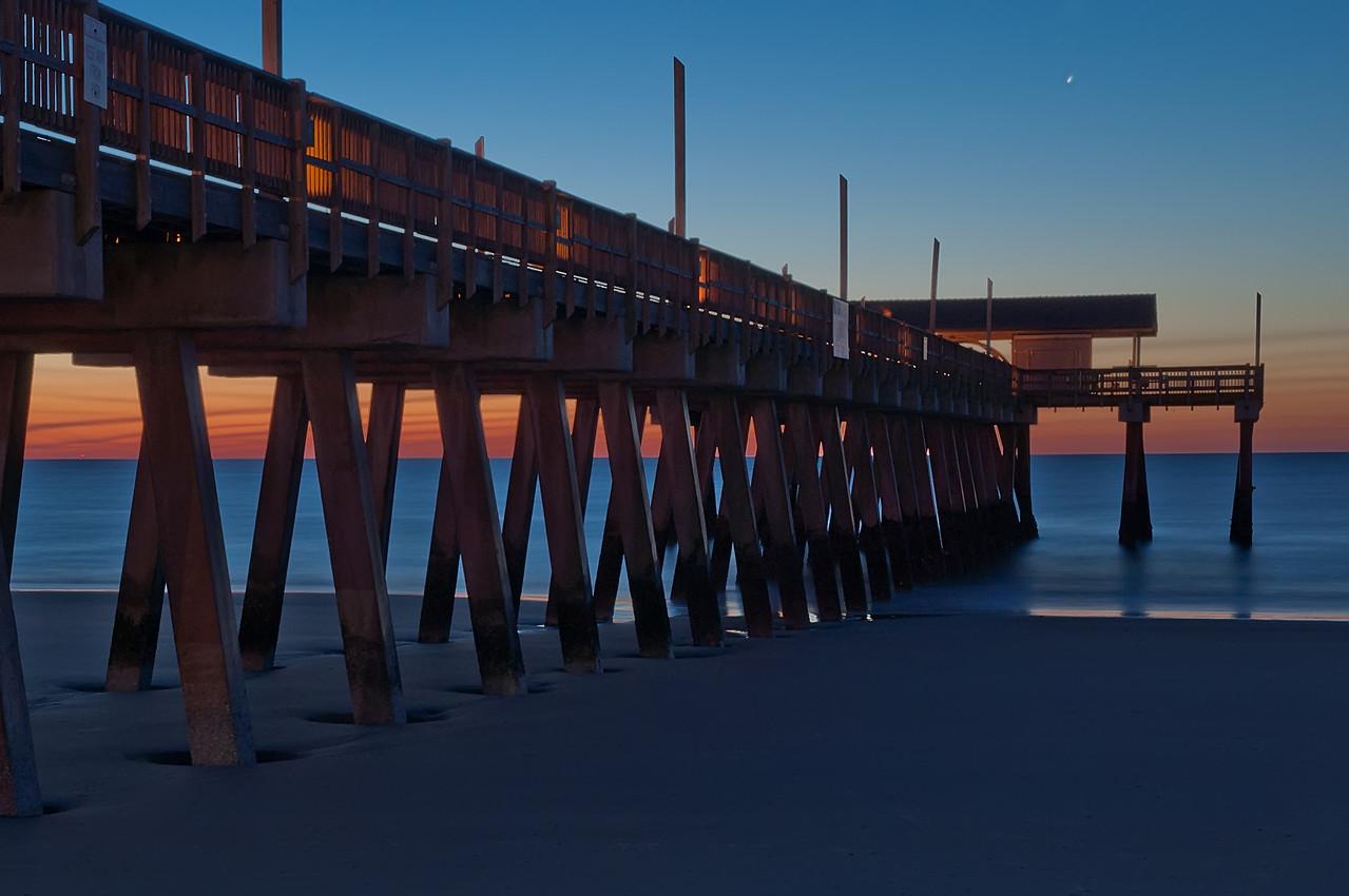 Tybee Island Pier at dawn.