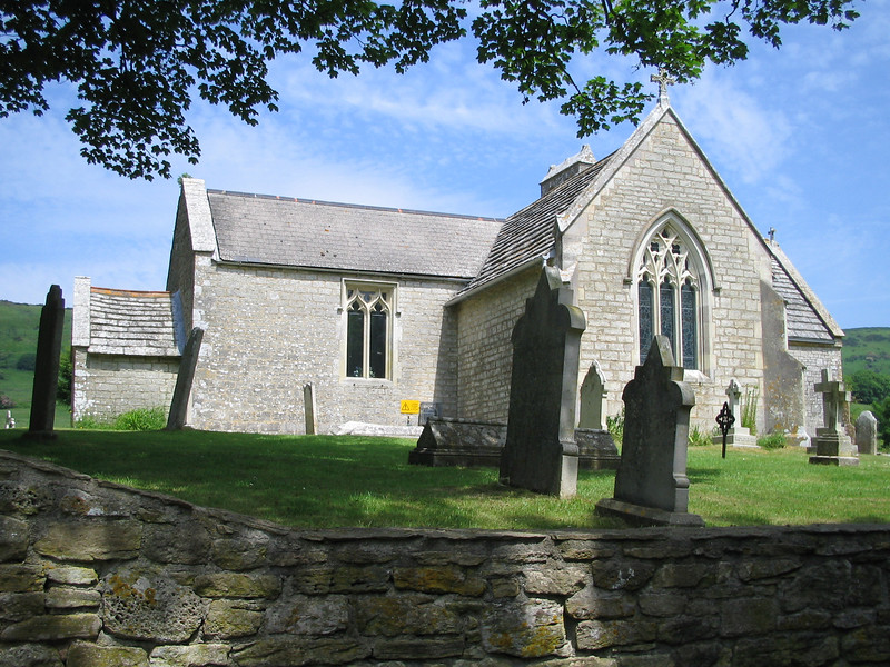 """St. Mary's Church. A note was left on the church door when the village was vacated - <i>""""Please treat the church and houses with care; we have given up our homes where many of us lived for generations to help win the war to keep men free. We shall return one day and thank you for treating the village kindly.""""</i>"""