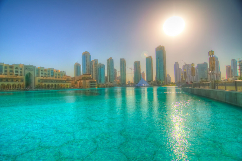 Water area outside of the Dubai Mall.