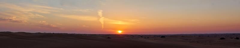 The Desert sunset panorama