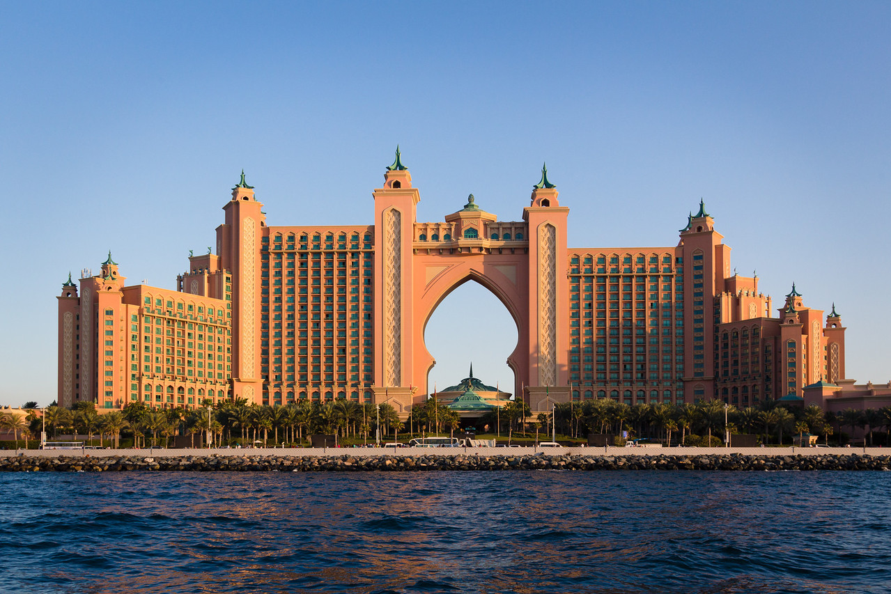 The super luxury Atlantis hotel.