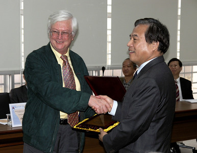 Presentation to Professor Lucas by President Shaw
