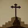 Center cross above the Santa Barbara Mission