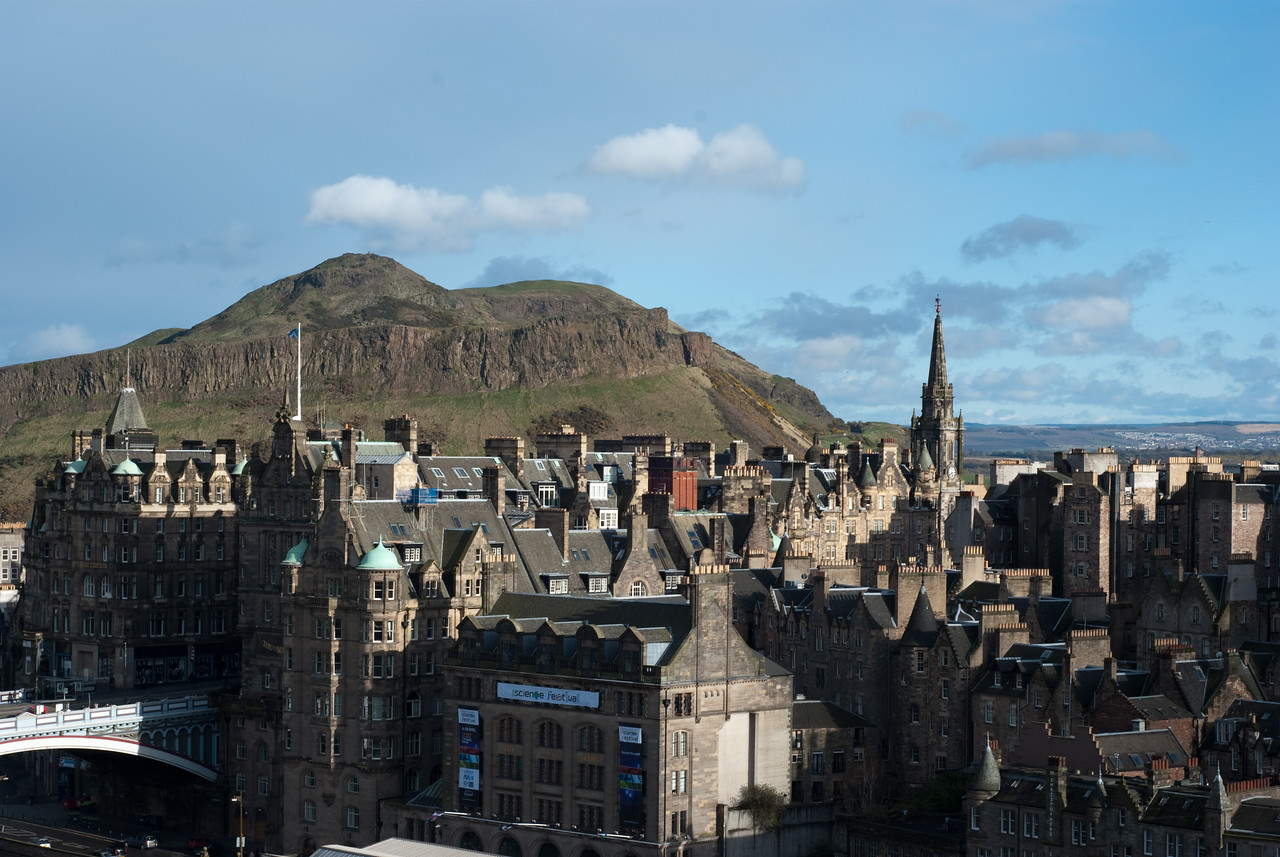 Arthur's seat overlooking the old city