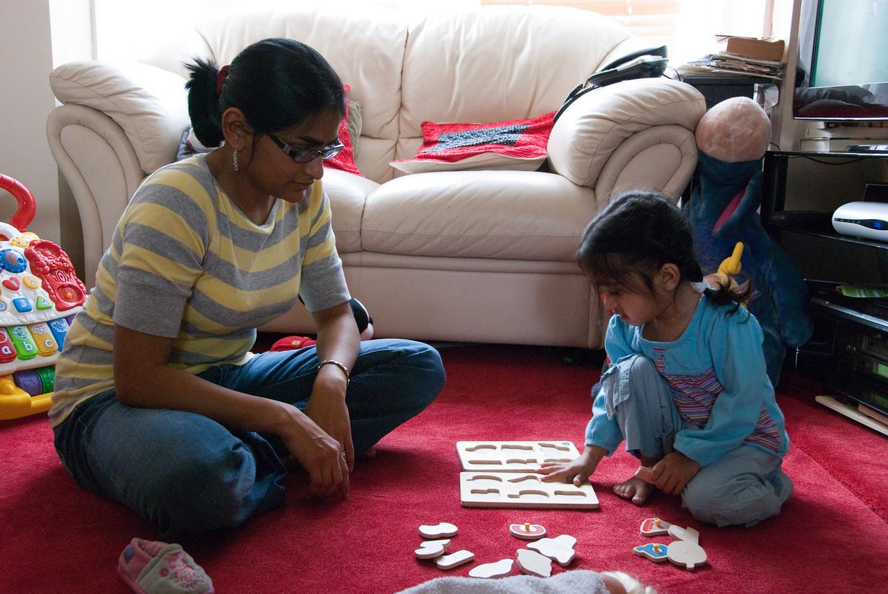 Tavisha finally comes around to playing with her aunt