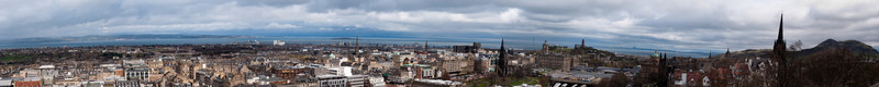 Panorama of Edinburgh from Edinburgh Castle
