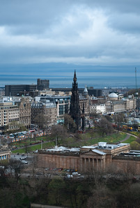 """New"" Edinburgh from the castle"