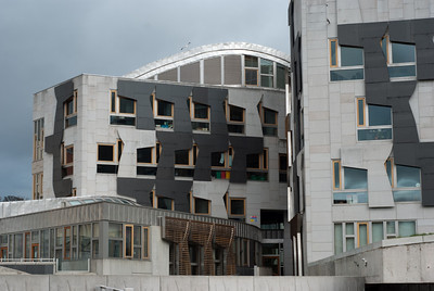 The new Scottish Parliament building
