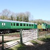 Preserved 4COR and other electric stock, Shepherdswell, East Kent Railway