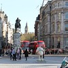"London - Trafalgar Square, Charles I, Whitehall, ""Big Ben"" and New Routemaster buses"