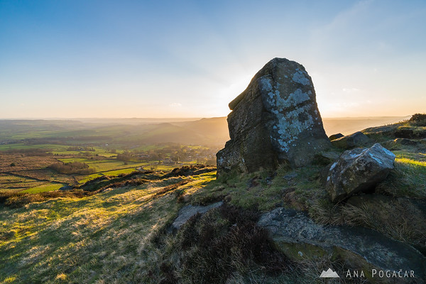 A beautiful and windy late afternoon at Curbar Edge, Peak District NP