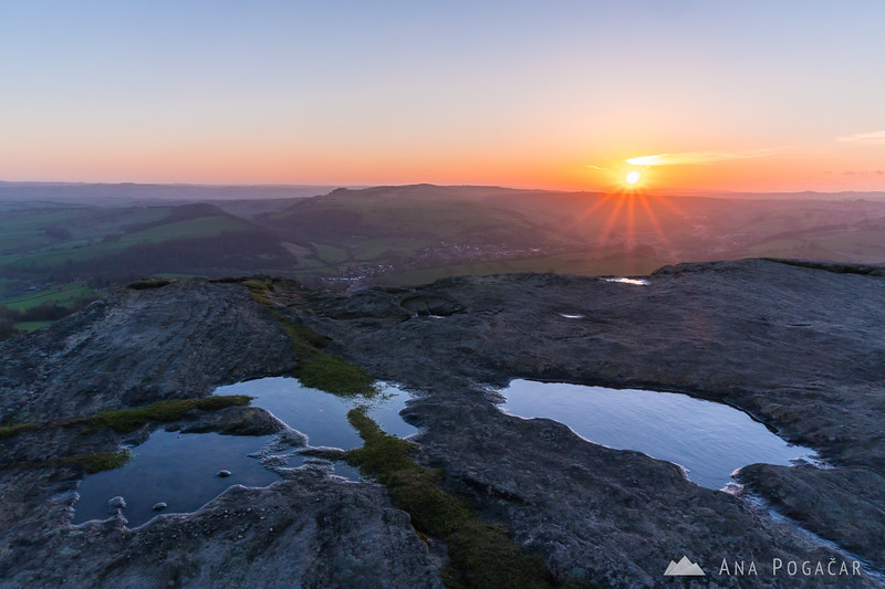 Sunset at Curbar Edge, Peak District NP