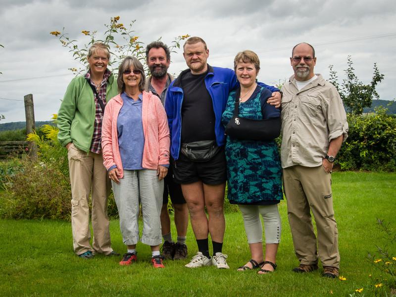 Sarah, Lola, Damian, Hops, Shonagh, Mike