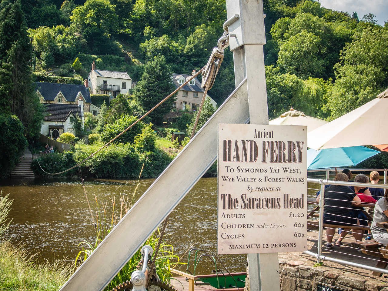 Hand Ferry over the River