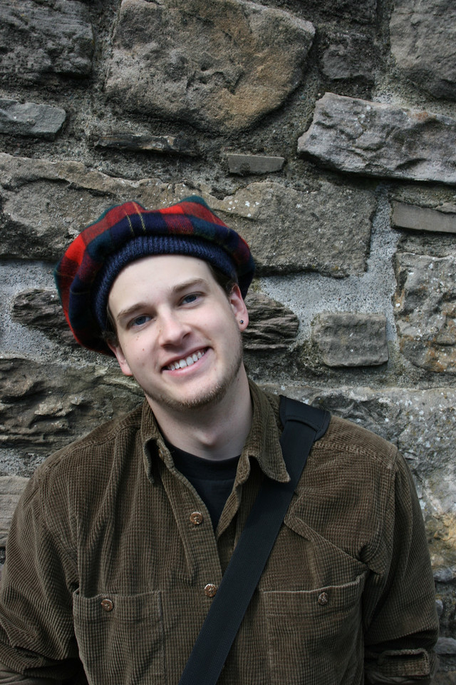 I got a hat because it was quite chilly in Edinburgh.