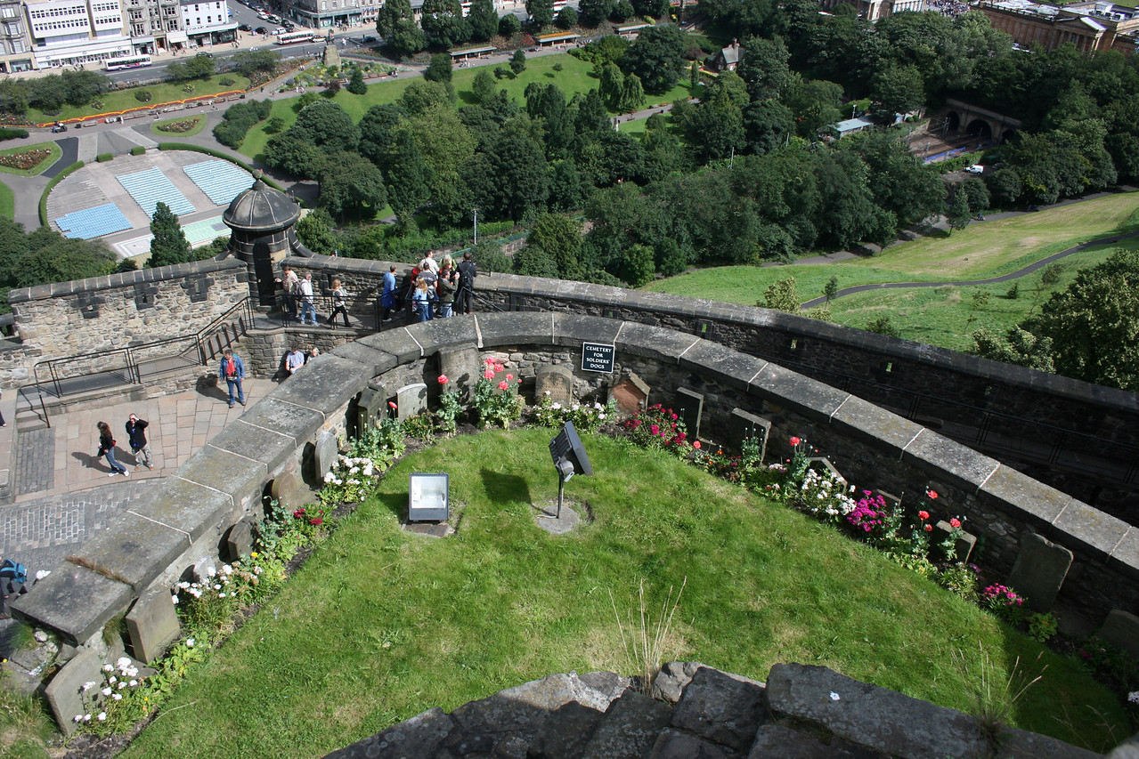 This is a cemetery for soldier's dogs at the Edinburgh Castle.