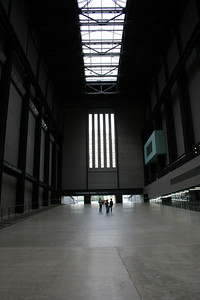 This is inside the turbine hall of the Tate Modern (modern art museum).  The building used to be an old power generating station.