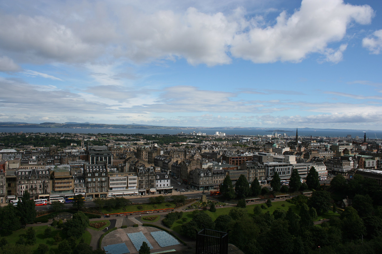 """View from the Edinburgh Castle towards """"New Town."""""""