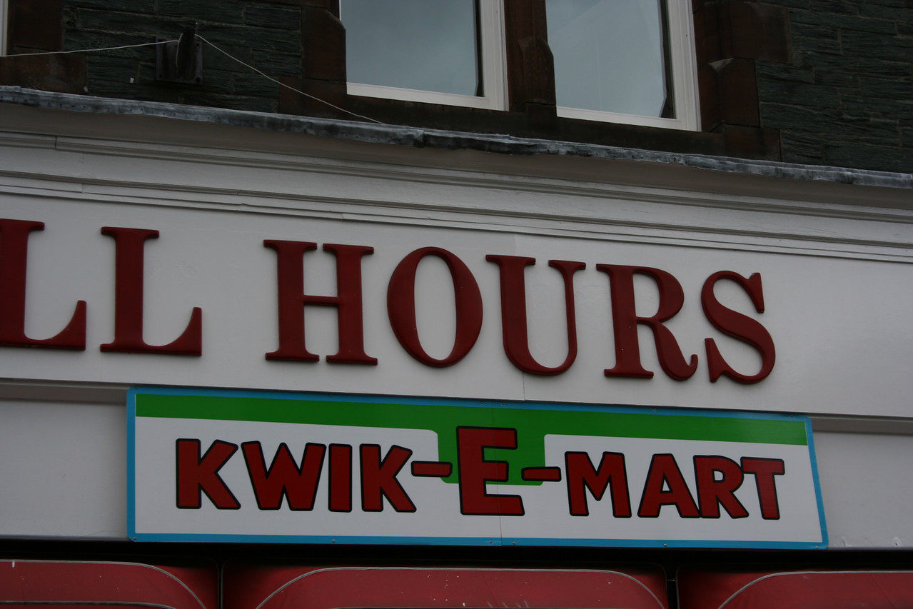 This is a promotion for the new Simpsons movie.  But I was surprised to find it in Keswick, UK.