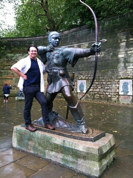 3 July 2012: Heroic pose.