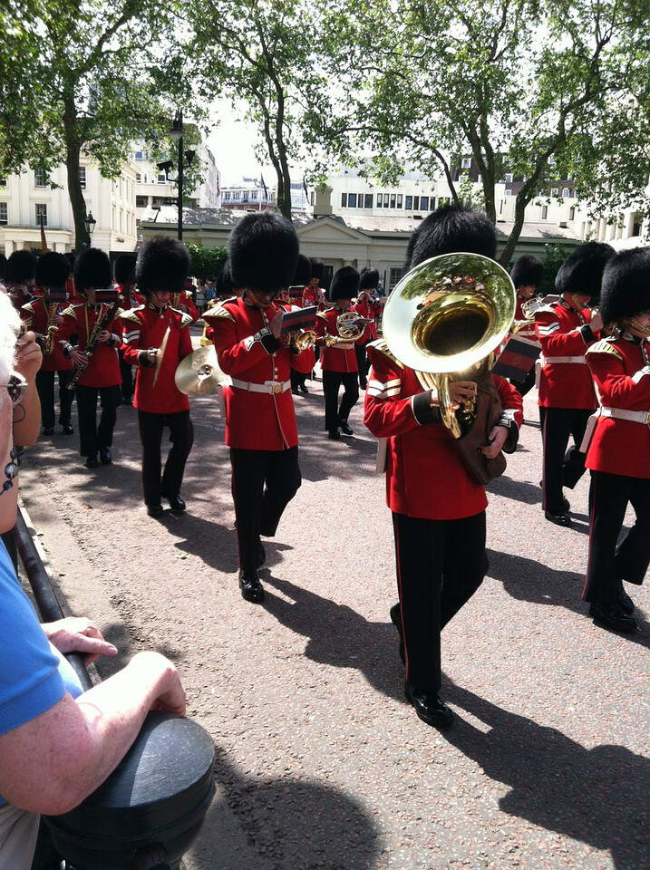 28 June 2012: Then it's the marching band. But I think this one is different from the other. They came from a different gate and there were lots more of them.