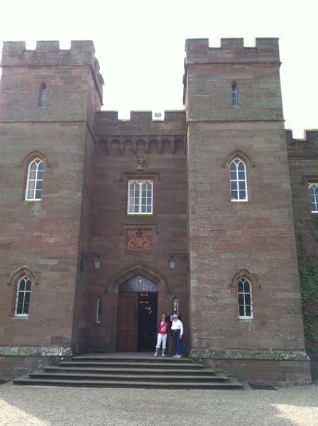 5 July 2012: Here we are at Scone Palace. And, yes, I did have scones.
